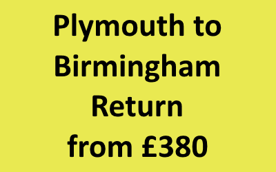 Plymouth to Birmingham Return