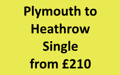 Plymouth to Heathrow Single