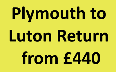 Plymouth to Luton Return
